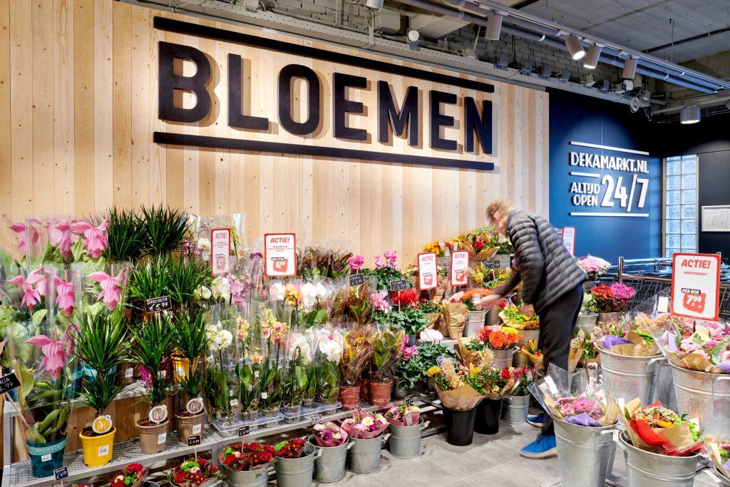 DekaMarkt Heemstede interieur bloemen