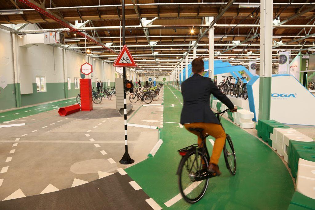 testbaan de fietser