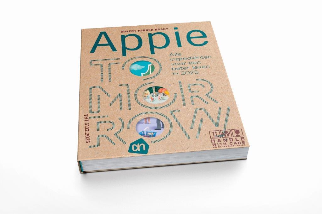 """Het boek """"Appie Tomorrow- Alle ingrediënten voor een beter leven in 2025"""" van Rupert Parker Brady"""